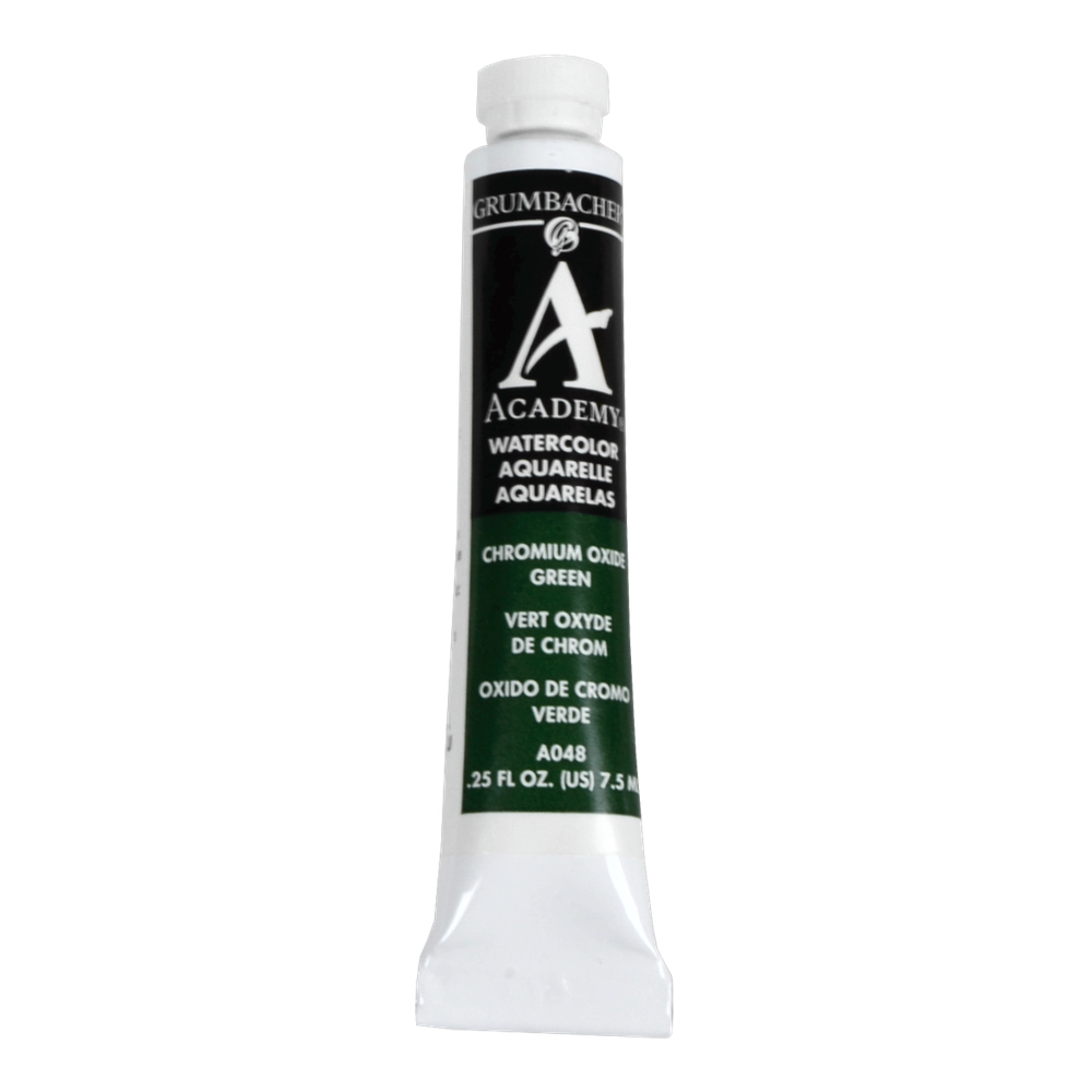 Academy Watercolor 7.5Ml Chromium Oxide Green