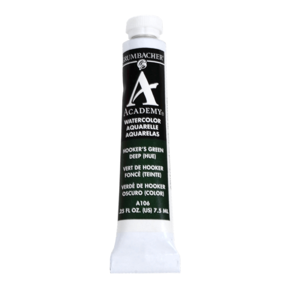 Academy Watercolor 7.5Ml Hookers Green Deep