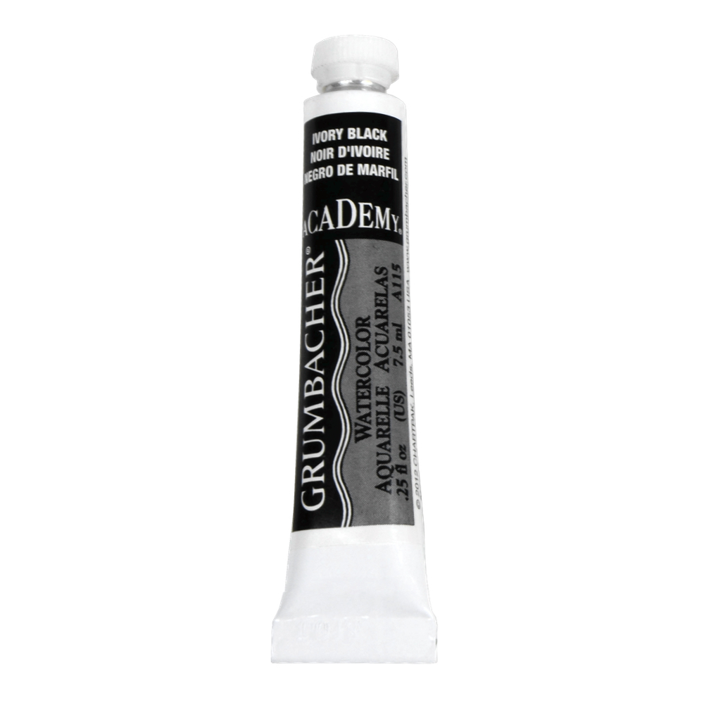 Academy Watercolor 7.5Ml Ivory Black