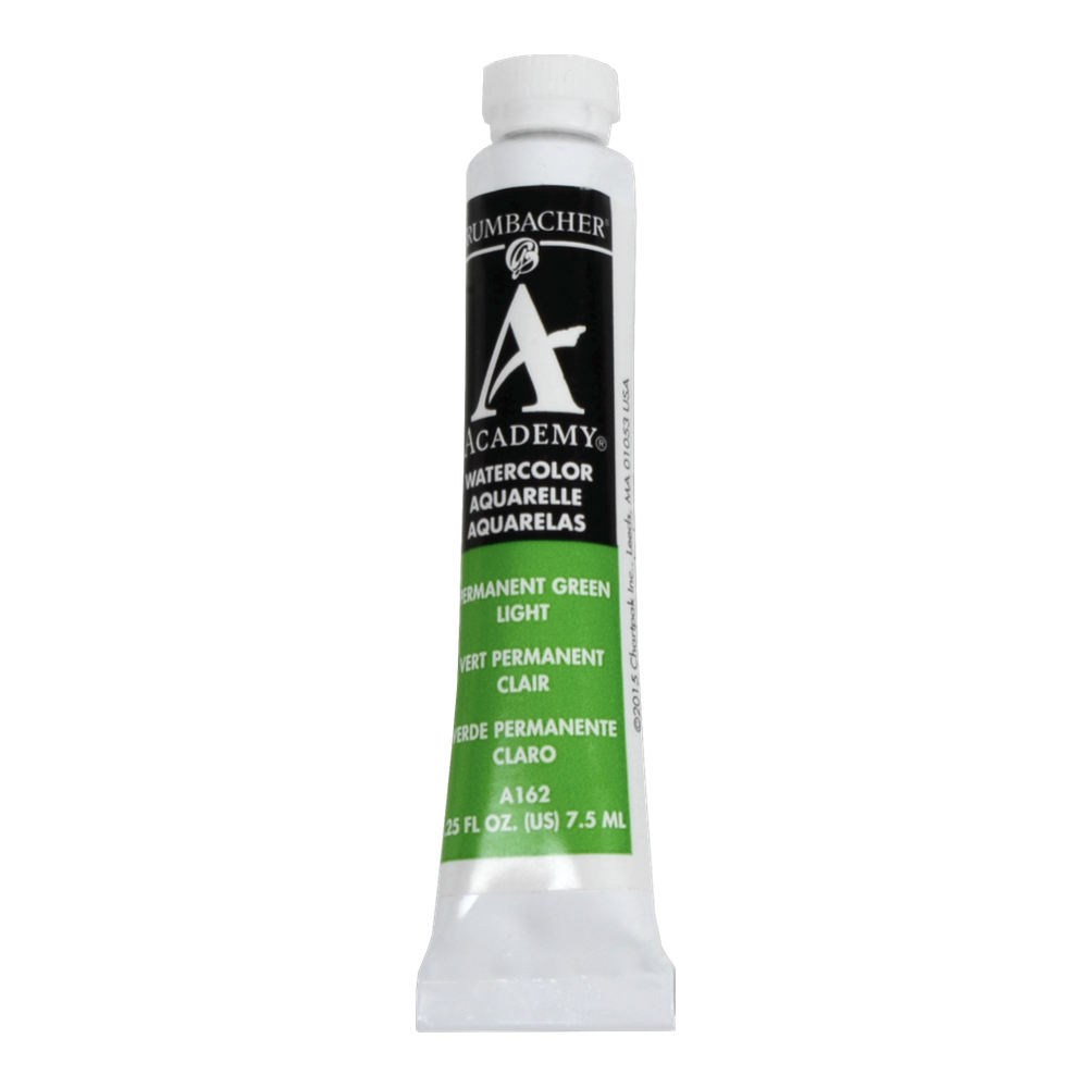 Academy Watercolor 7.5Ml Permanent Green Lt