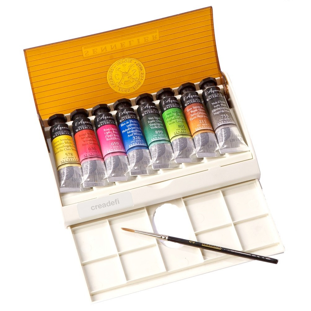 Sennelier Watercolor Travel Box 8 Tube Set