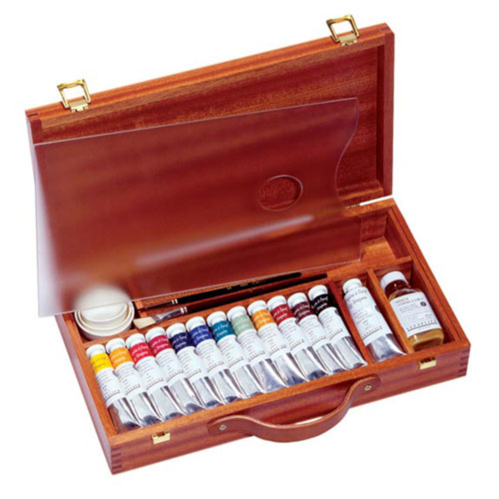 Sennelier Artist Egg Tempera Wood Box Set