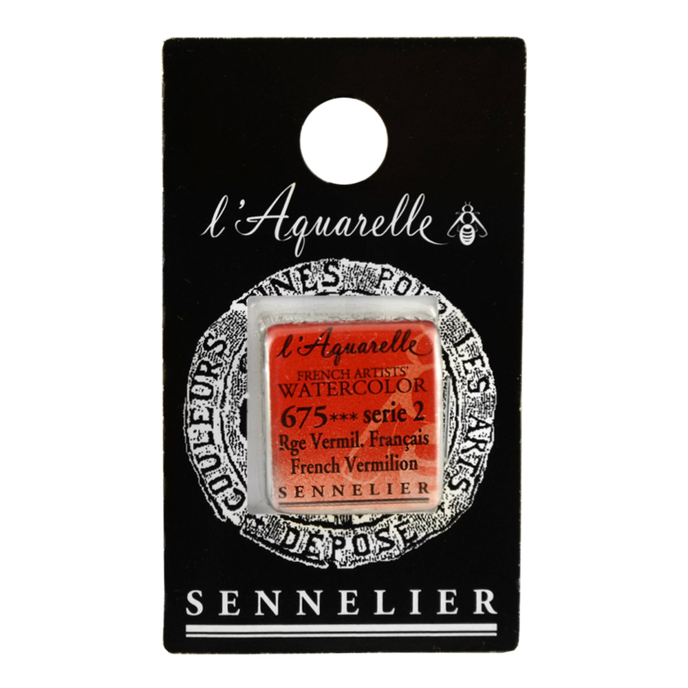 Sennelier French Wc Half Pan French Vermilion