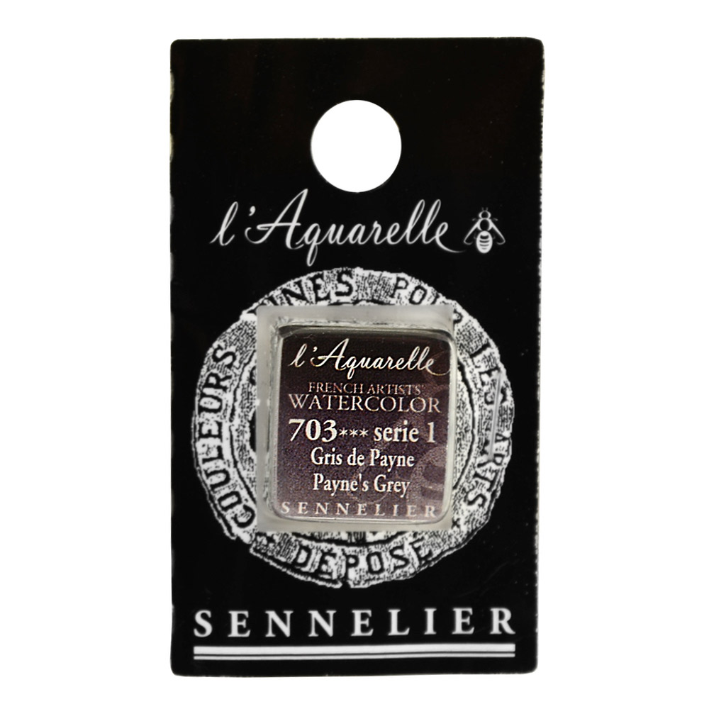 Sennelier French Wc Half Pan Paynes Grey