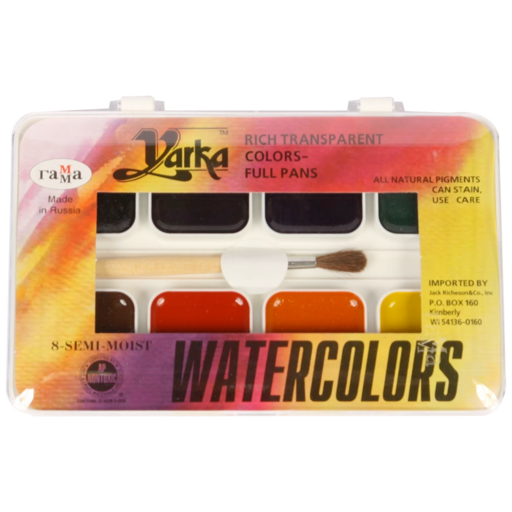 Yarka Semi-Moist Student Watercolor 8 Set