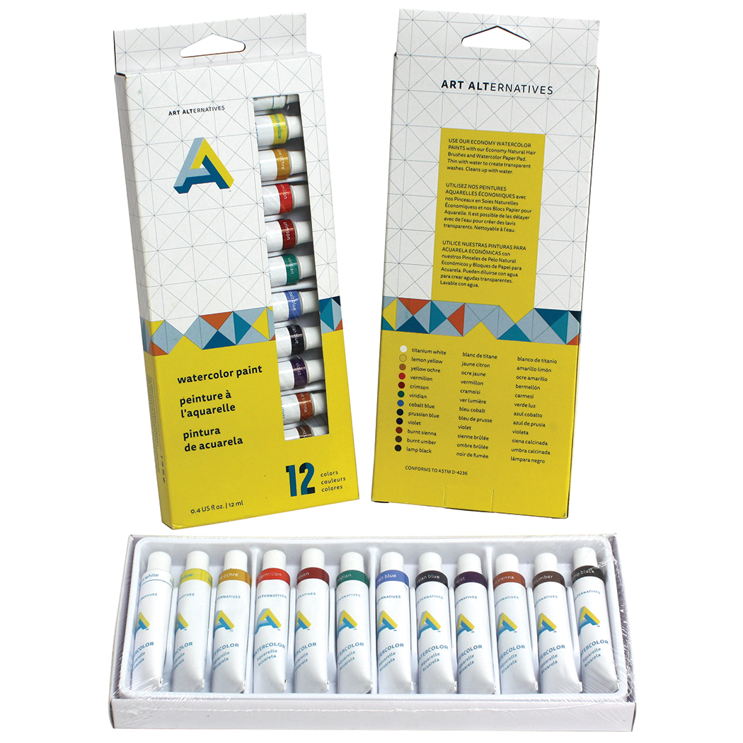 AA Watercolor Paint Set 12X12Ml