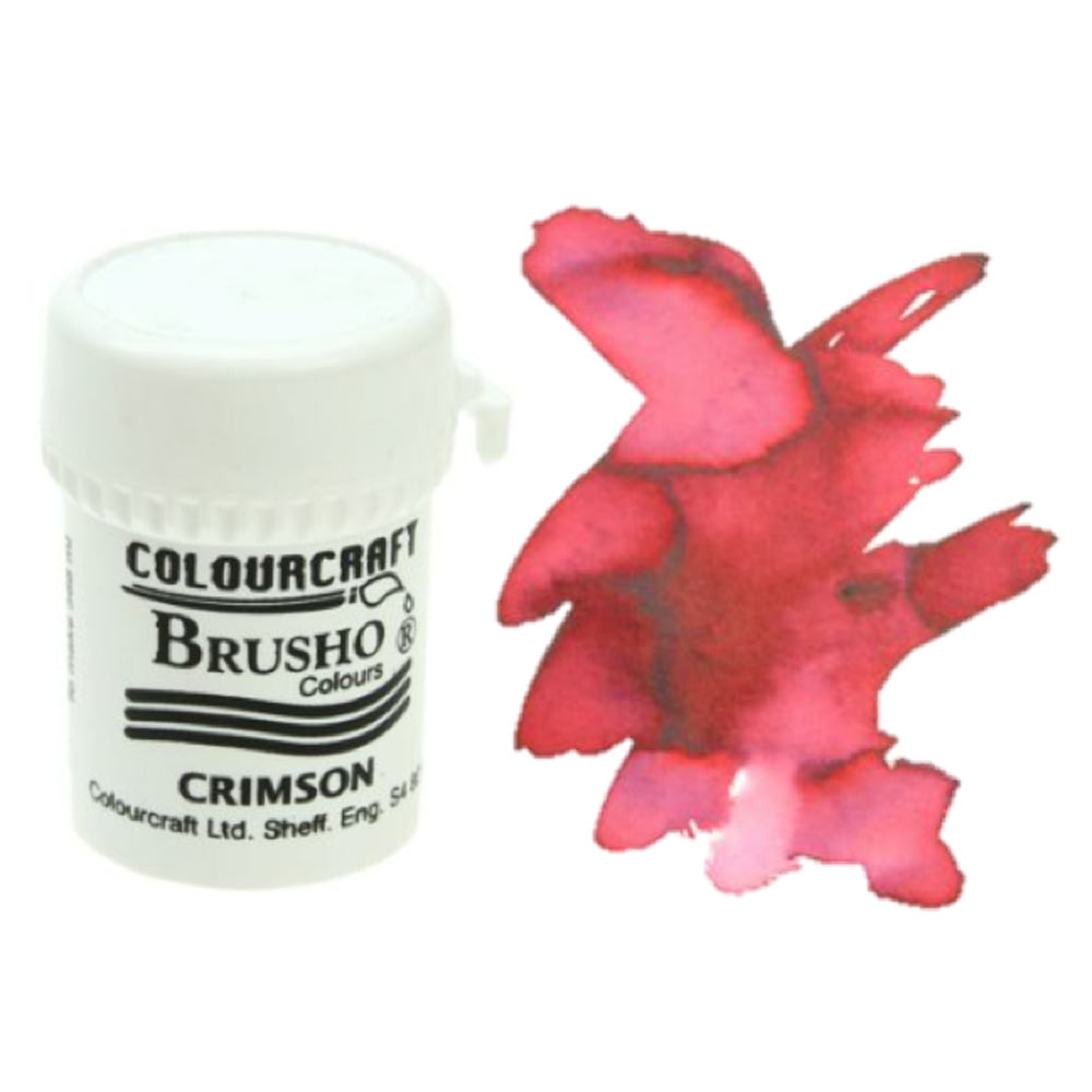 Brusho Crystal Colours 15 Gram Crimson