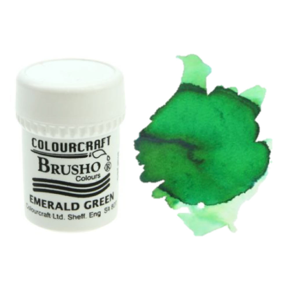 Brusho Crystal Colours 15 Gram Emerald Green