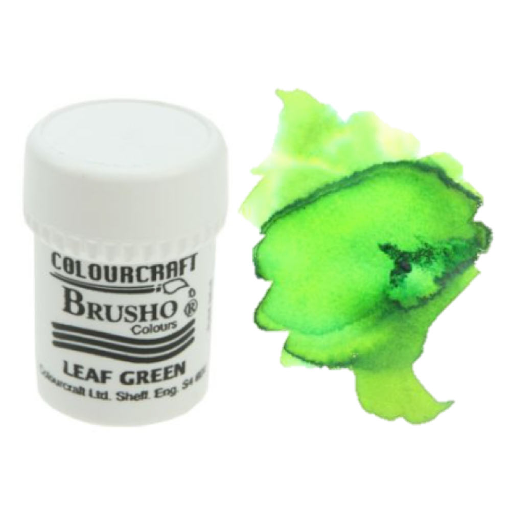 Brusho Crystal Colours 15 Gram Leaf Green