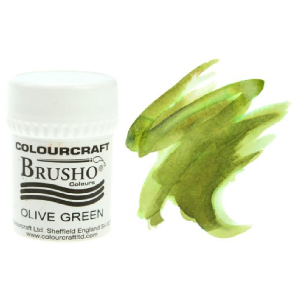 Brusho Crystal Colours 15 Gram Olive Green