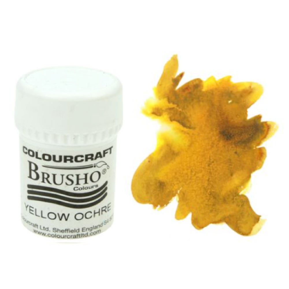 Brusho Crystal Colours 15 Gram Yellow Ochre