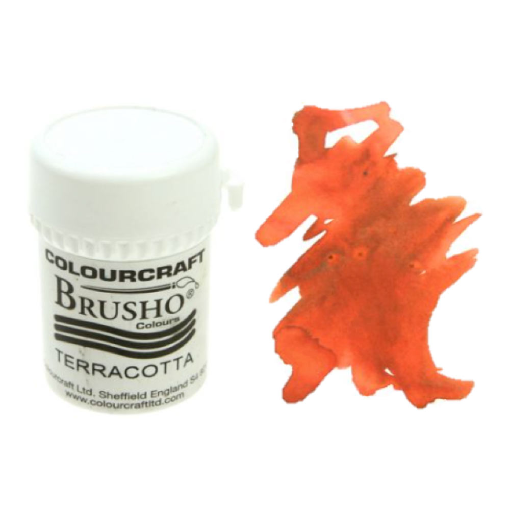 Brusho Crystal Colours 15 Gram Terracotta
