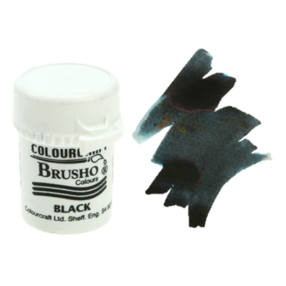 Brusho Crystal Colours 15 Gram Black
