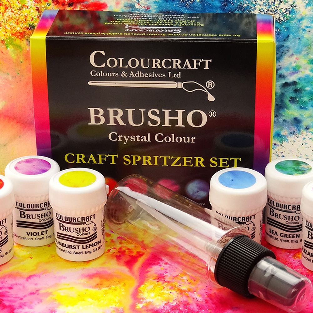 Brusho Craft Spritzer Set 6 Colors