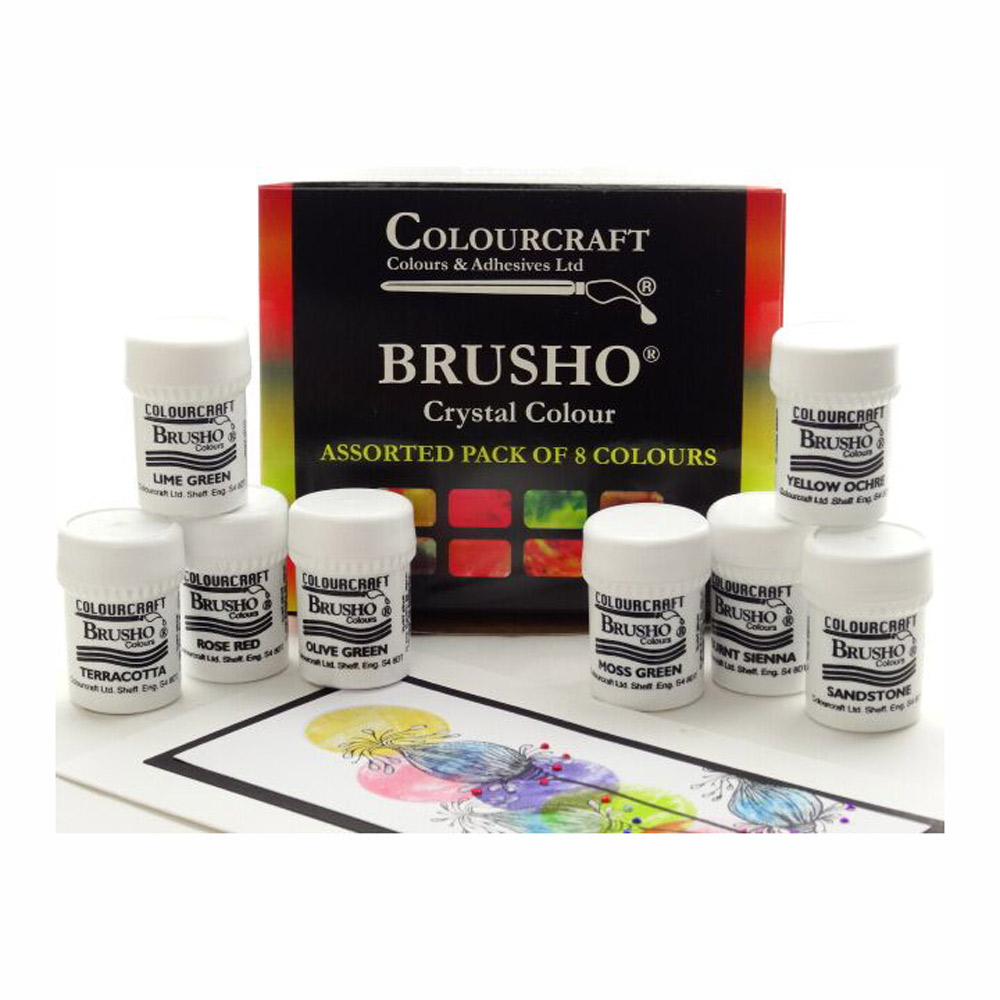 Brusho Crystal Colours Set Of 8