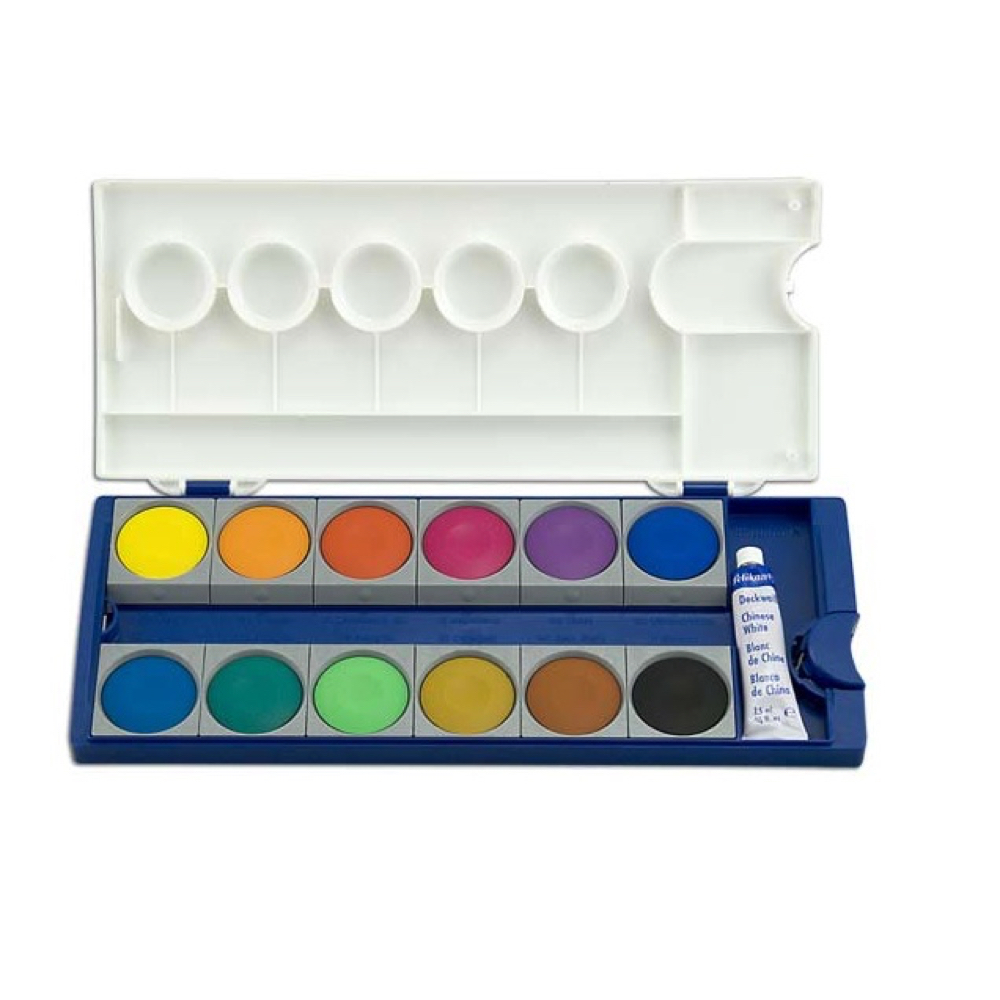 Pelikan 12 Color Opaque Watercolor Set