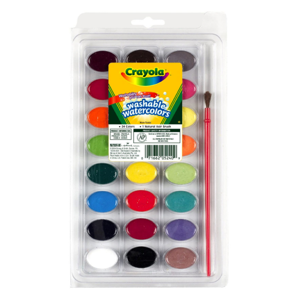 Crayola 53-0524 24 Pan Watercolor Set