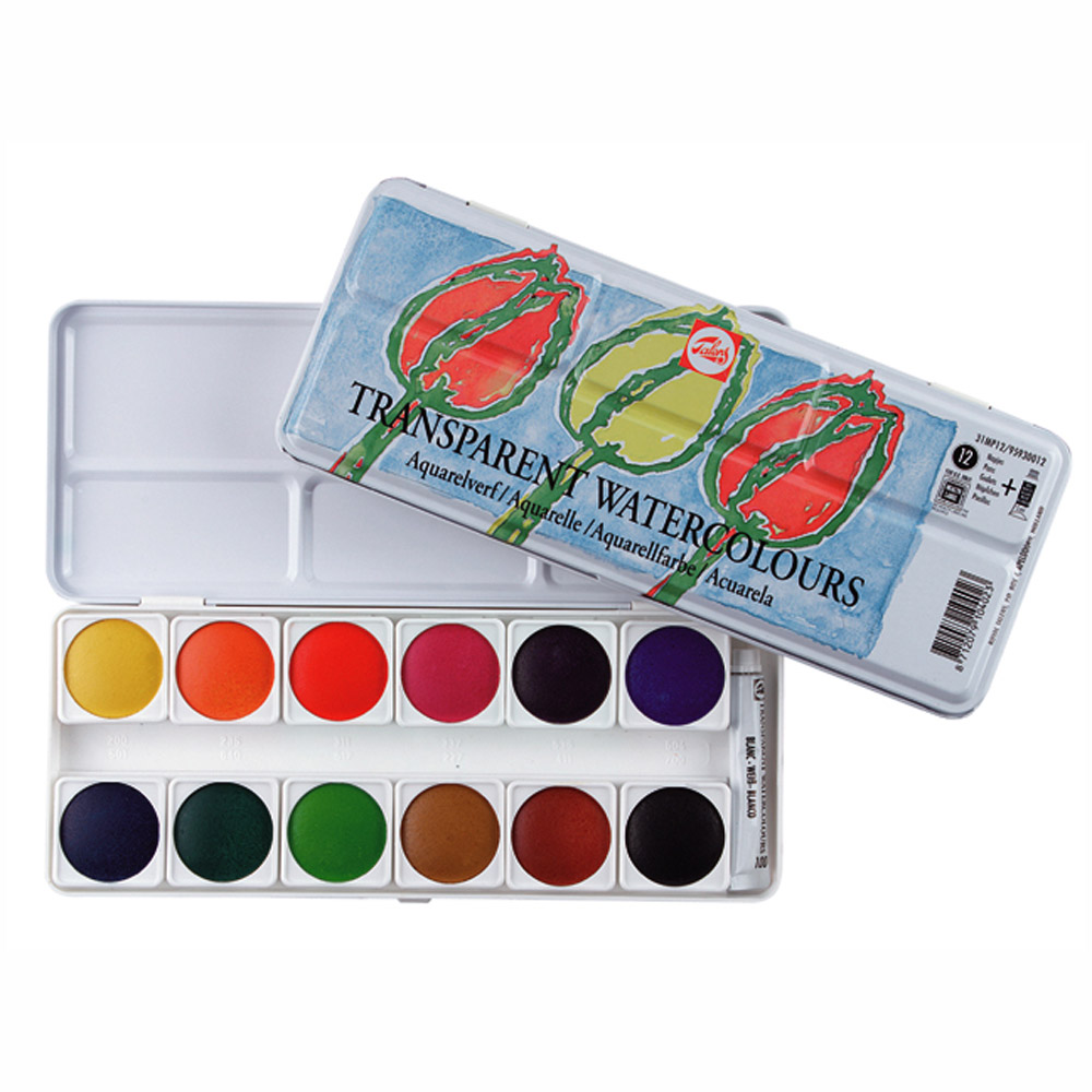 Talens Transparent Water Colors Metal Box 12
