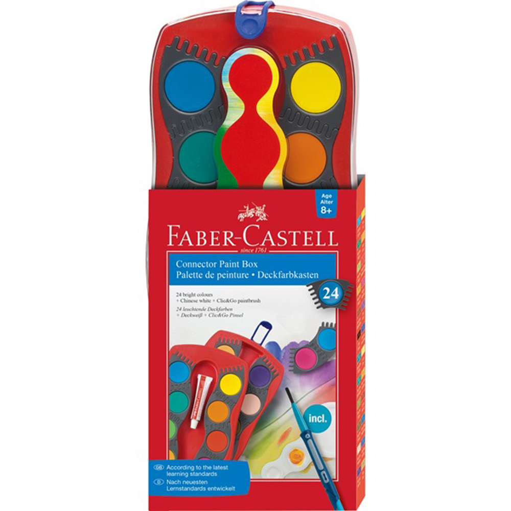Faber-Castell Connector Paint Set 24