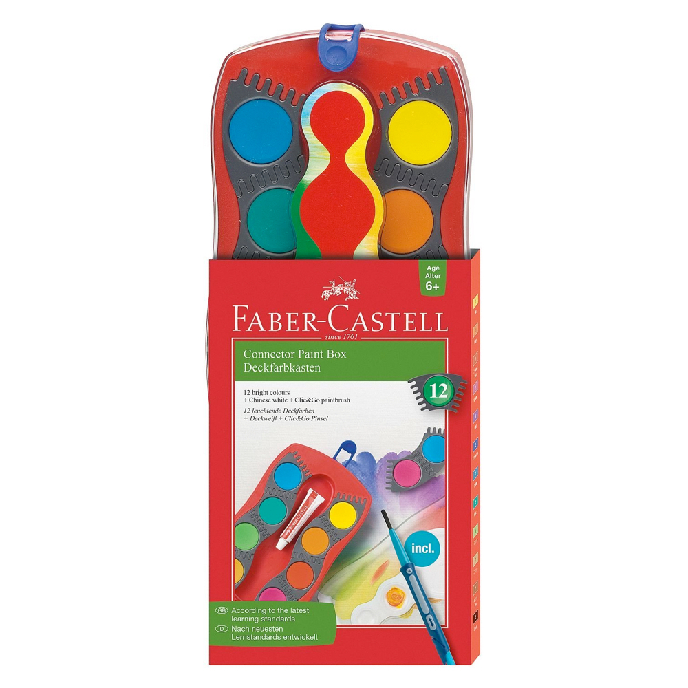 Faber-Castell Watercolor Paint Box 12 Colors