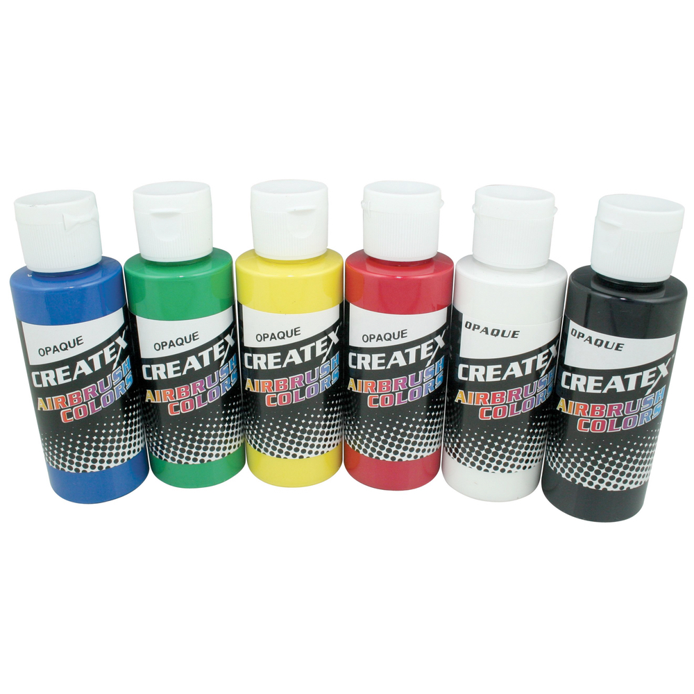 Createx 2 Oz Set Of 6 Opaque Colors