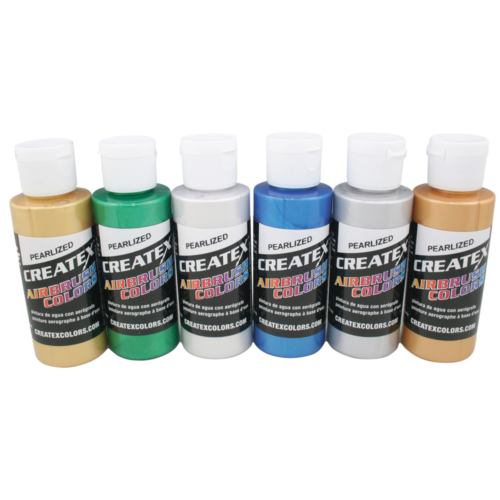 Createx 2 Oz Set Of 6 Pearl Colors