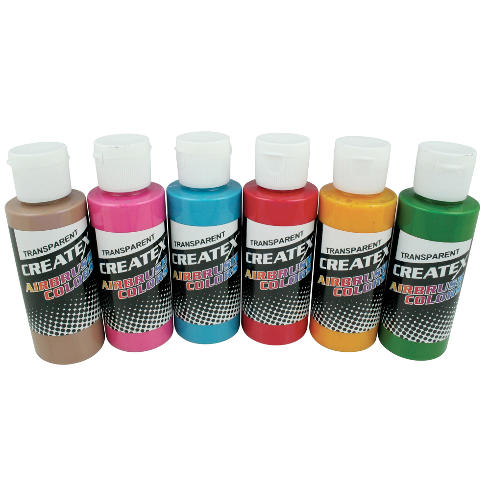 Createx 2 Oz Set Of 6 Tropical Colors