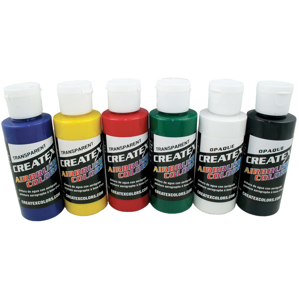 Createx 2 Oz Set Of 6 Primary Colors