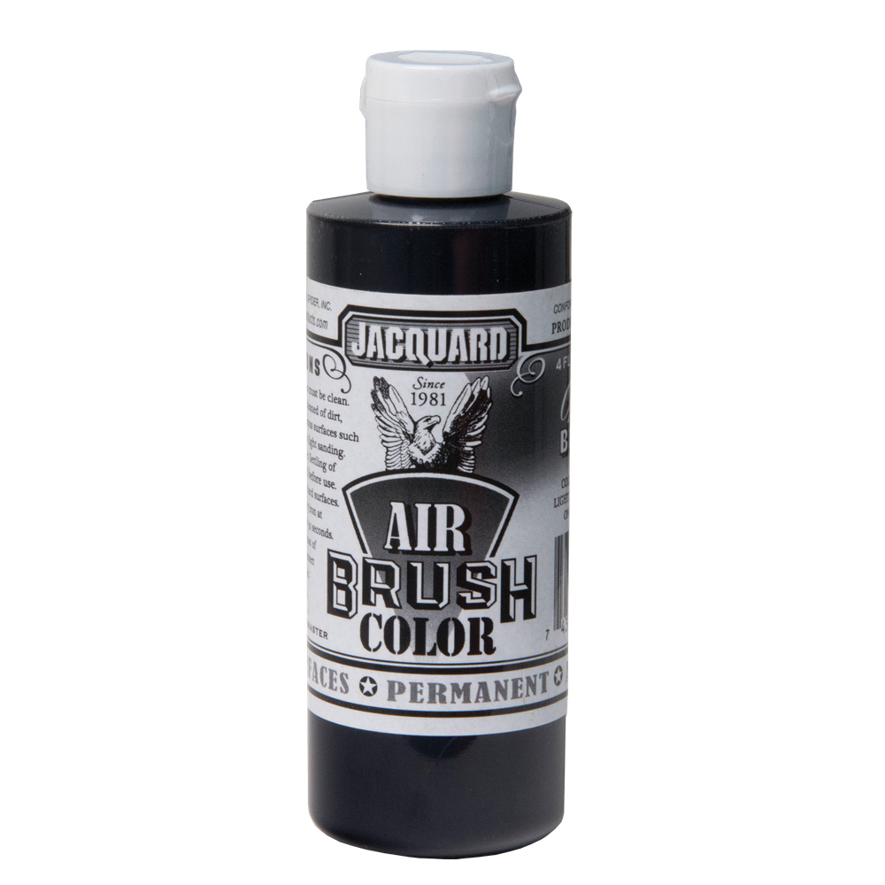 Jacquard Airbrush Color 4Oz Opaque Black