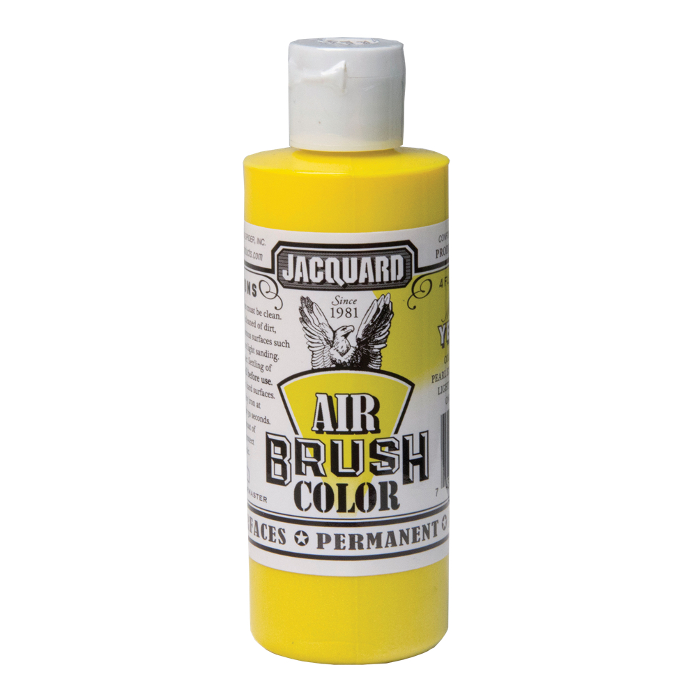 Jacquard Airbrush Color 4Oz Metallic Yellow