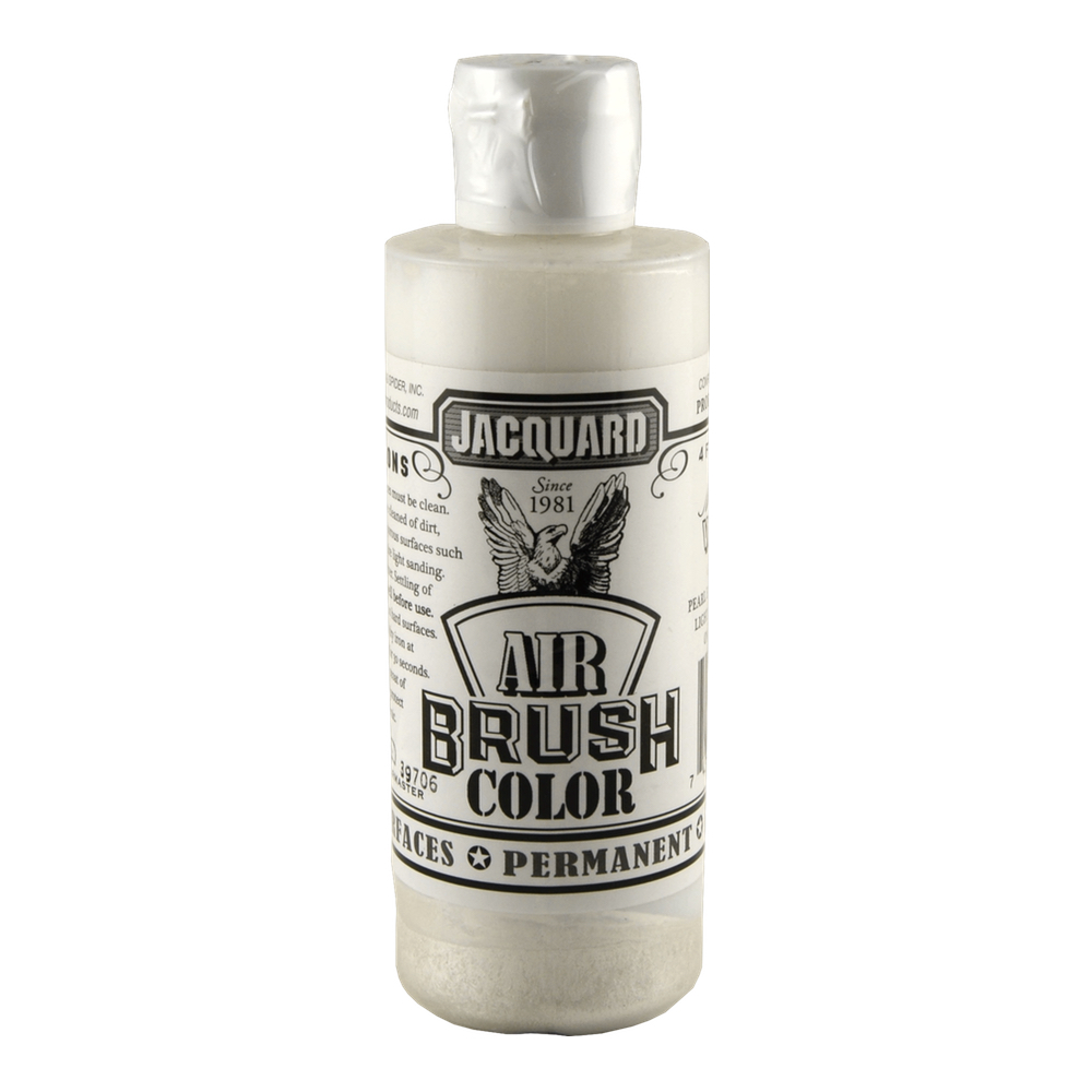 Jacquard Airbrush Color 4Oz Metallic White