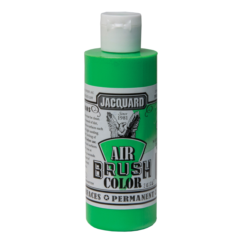 Jacquard Airbrush Color 4Oz Fluorescent Green