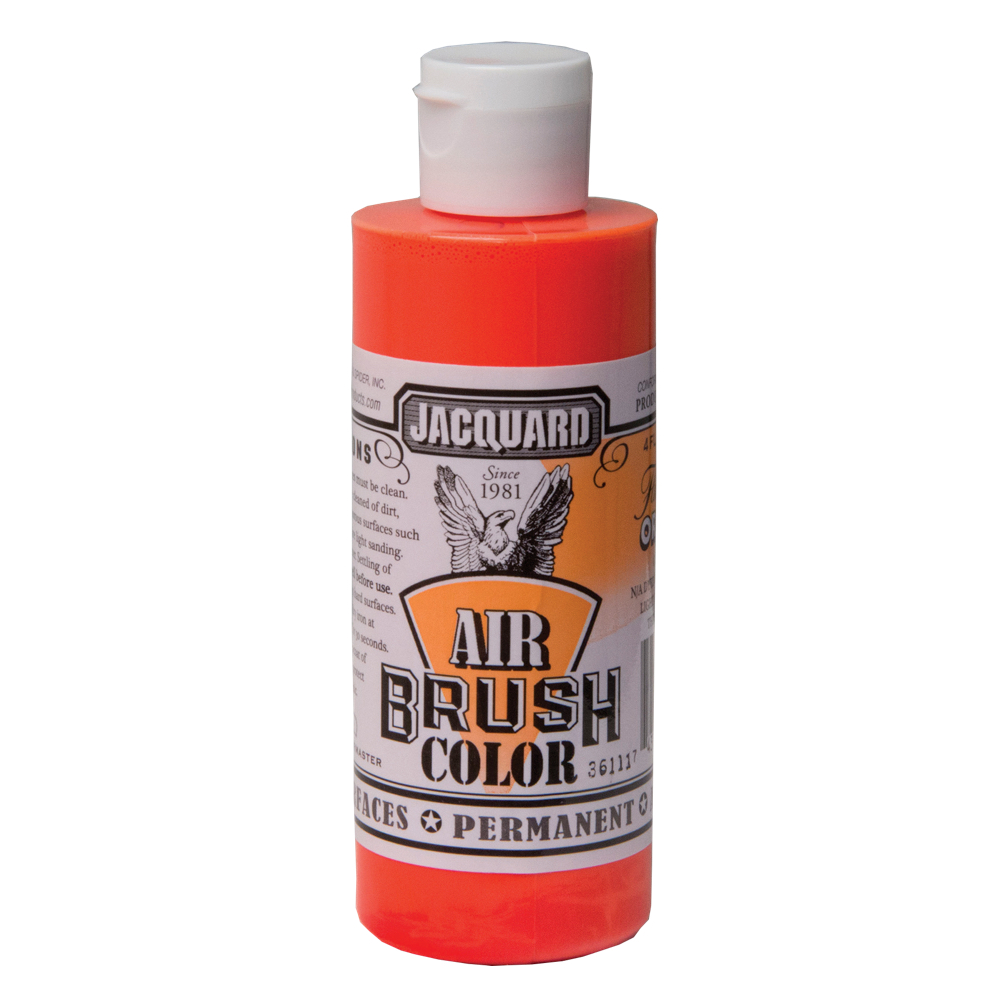Jacquard Airbrush Color 4Oz Fluor Orange