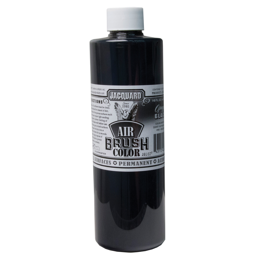 Jacquard Airbrush Color 16Oz Opaque Black