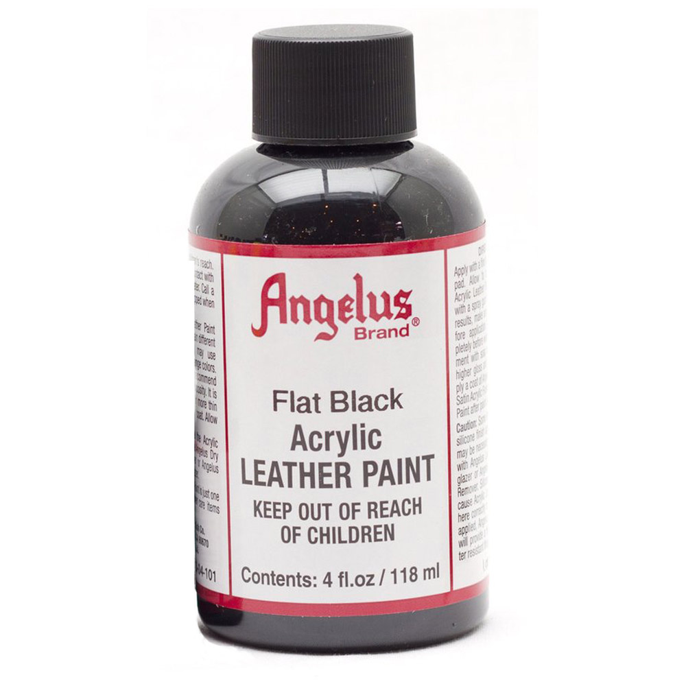 Angelus Leather Paint 4 Oz Flat Black