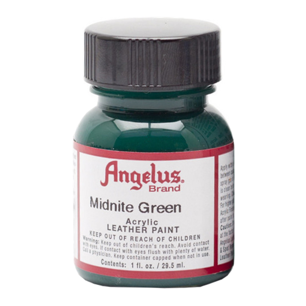 Angelus Leather Paint 1 Oz Midnight Green