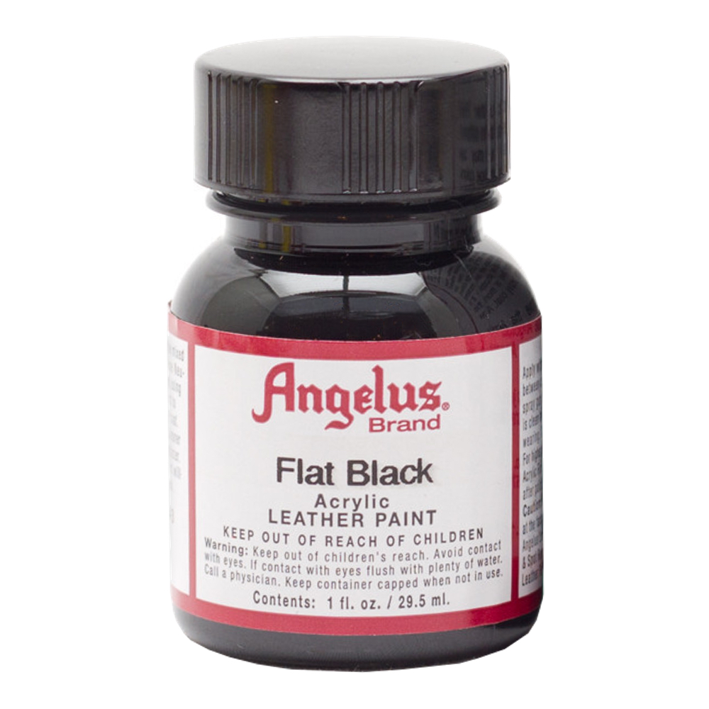 Angelus Leather Paint 1 Oz Flat Black