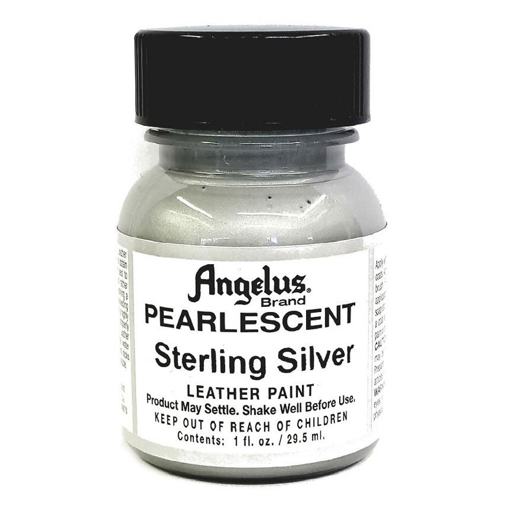 Angelus Leather Paint 1 Oz Pearl Sterl Silver