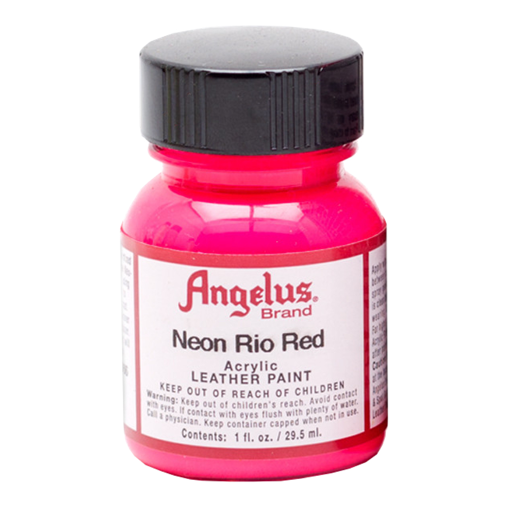 Angelus Leather Paint 1 Oz Neon Rio Red