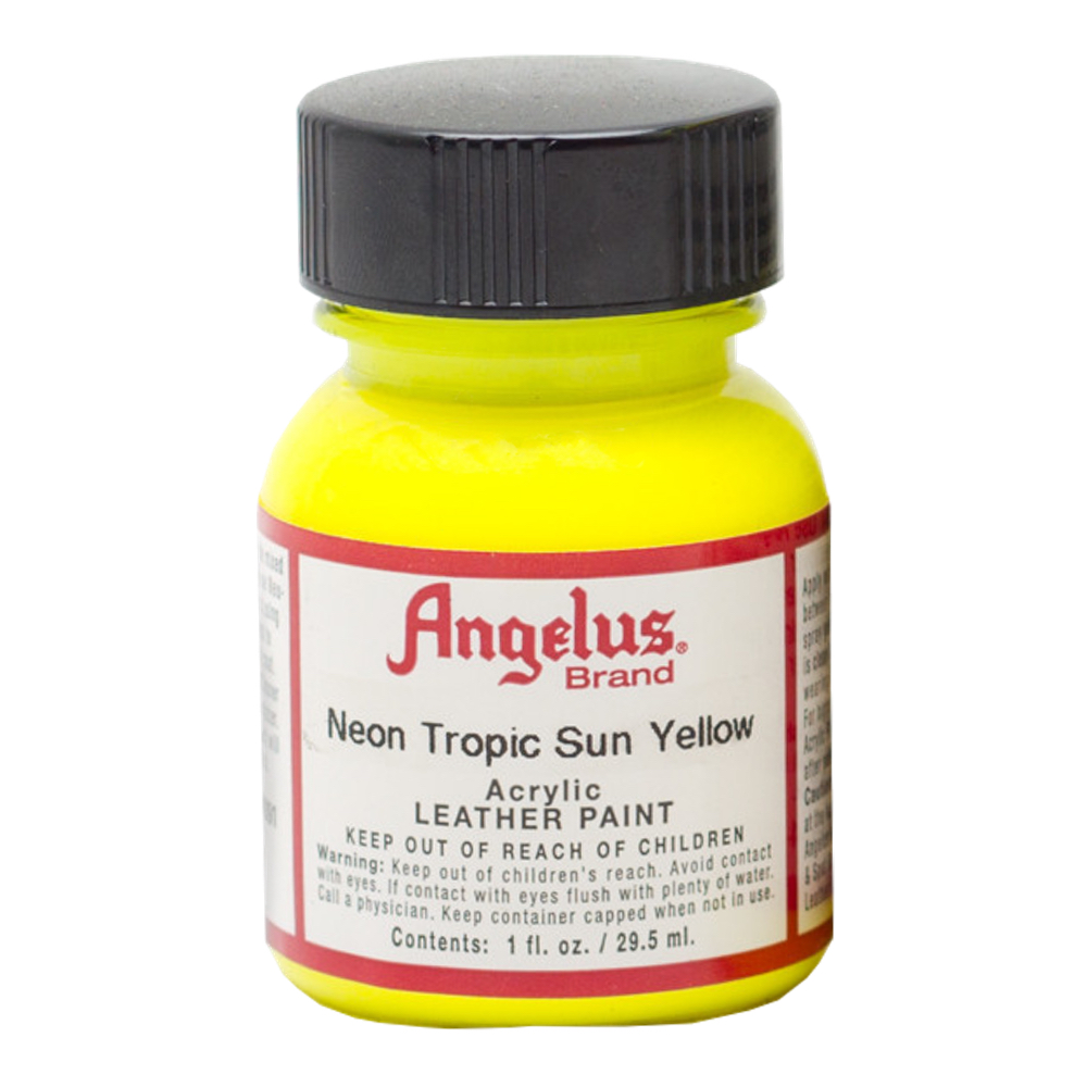 Angelus Leather Paint 1 Oz Neon Tropic Sun Yl
