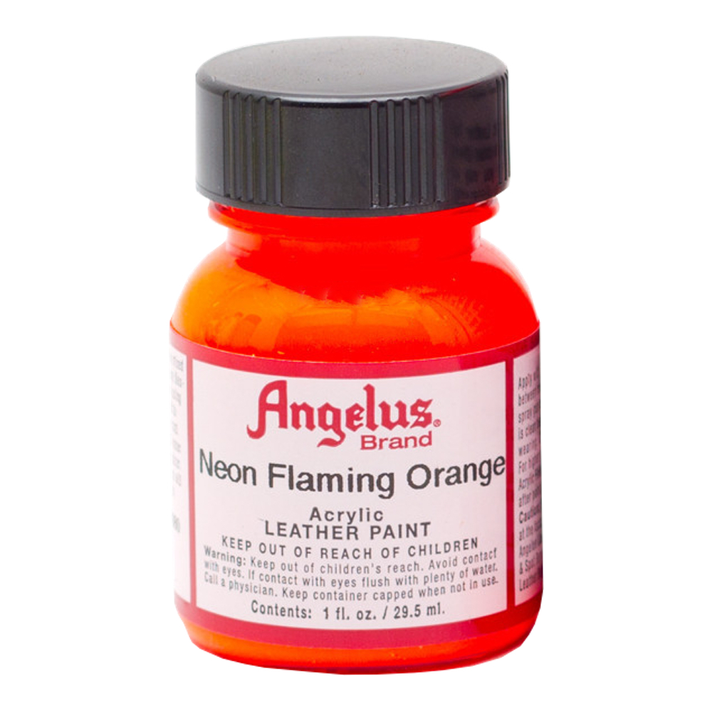Angelus Leather Paint 1 Oz Neon Flame Orange