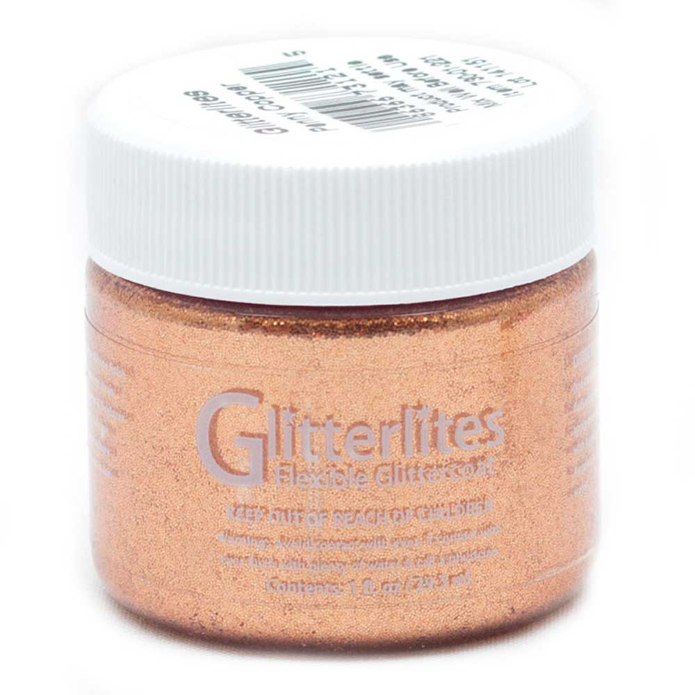 Angelus Paint Glitterlites 1 Oz Penny Copper