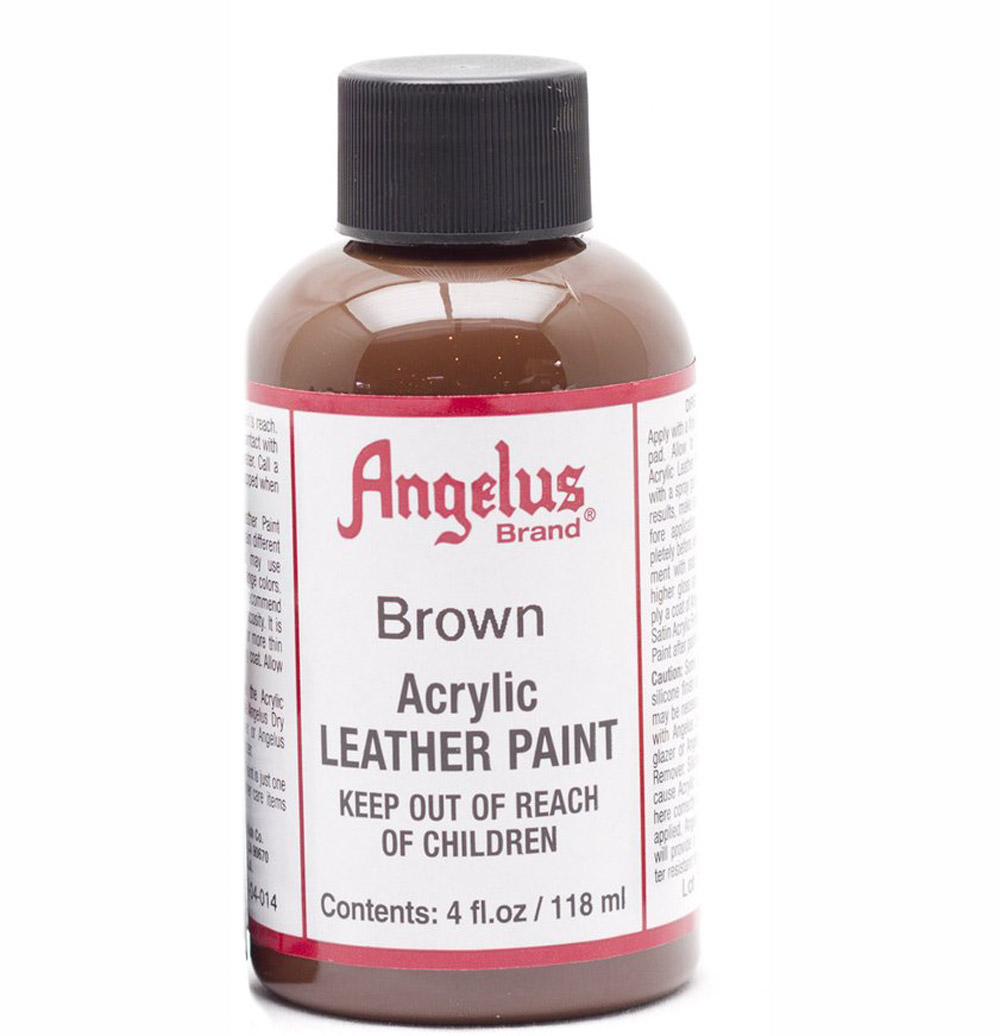 Angelus Leather Paint 4 Oz Brown