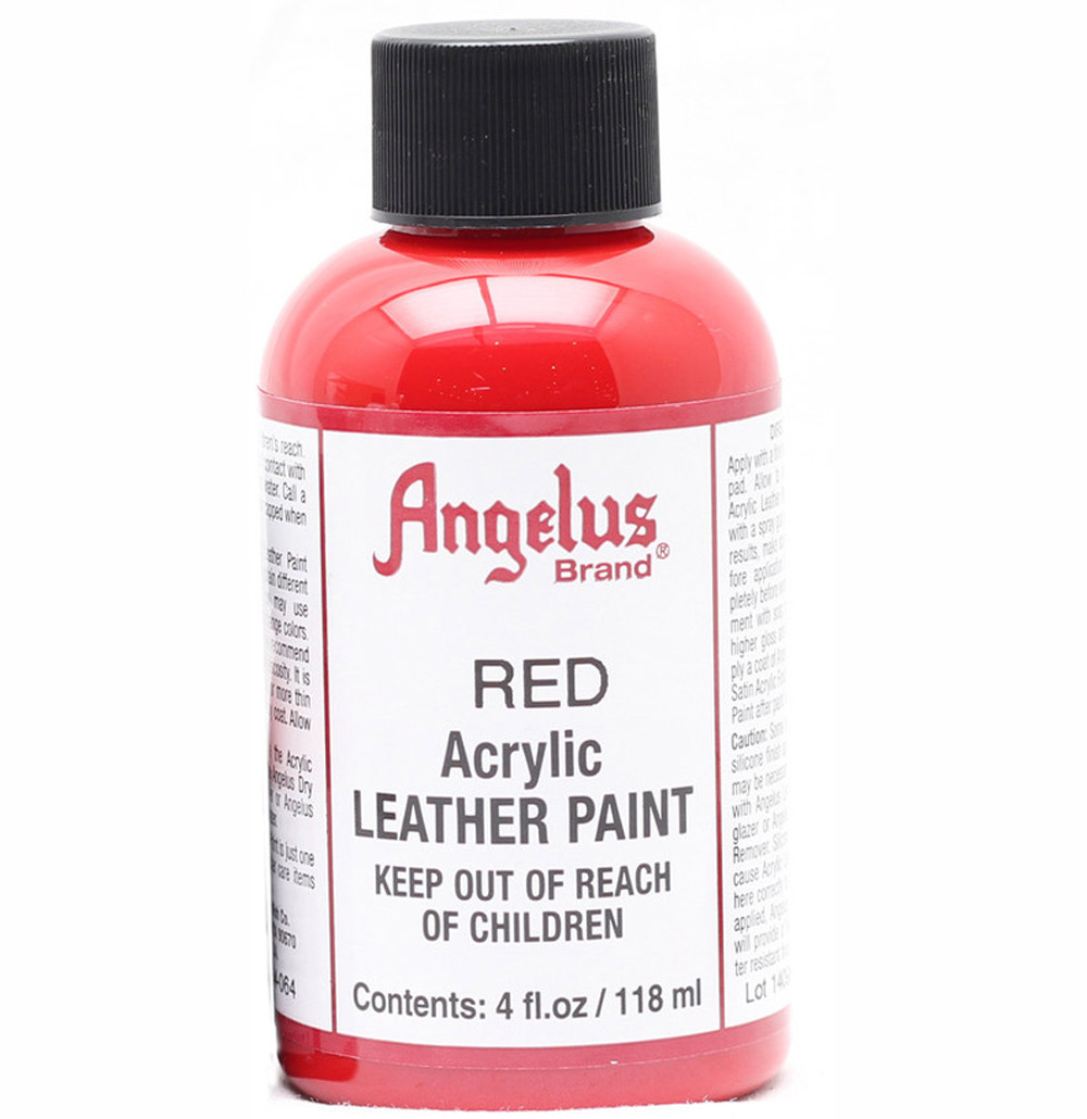 Angelus Leather Paint 4 oz Red