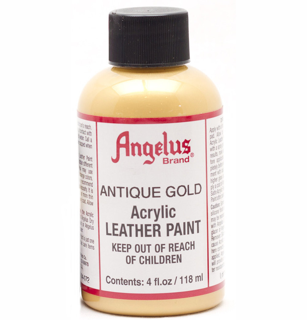 Angelus Leather Paint 4 Oz Gold