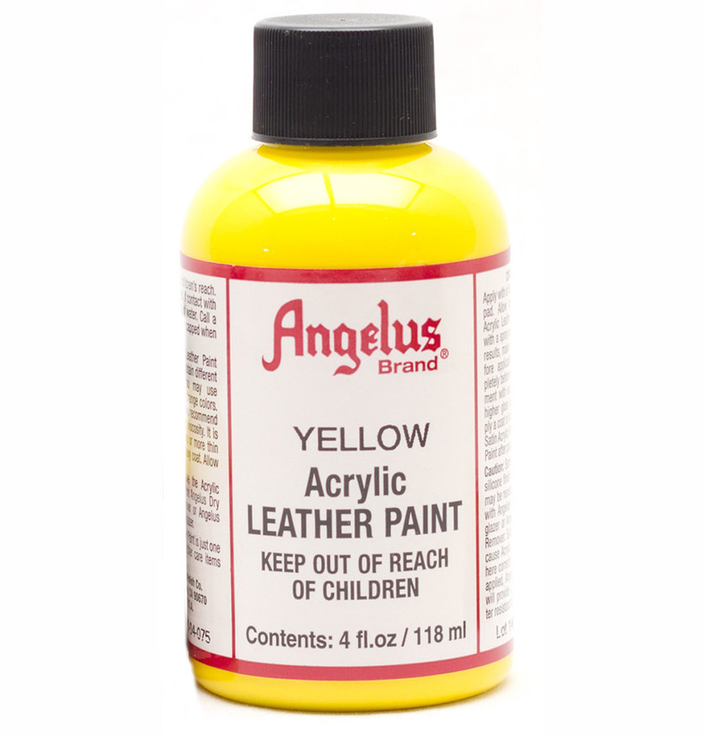Angelus Leather Paint 4 Oz Yellow