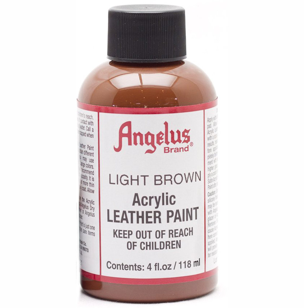Angelus Leather Paint 4 Oz Light Brown