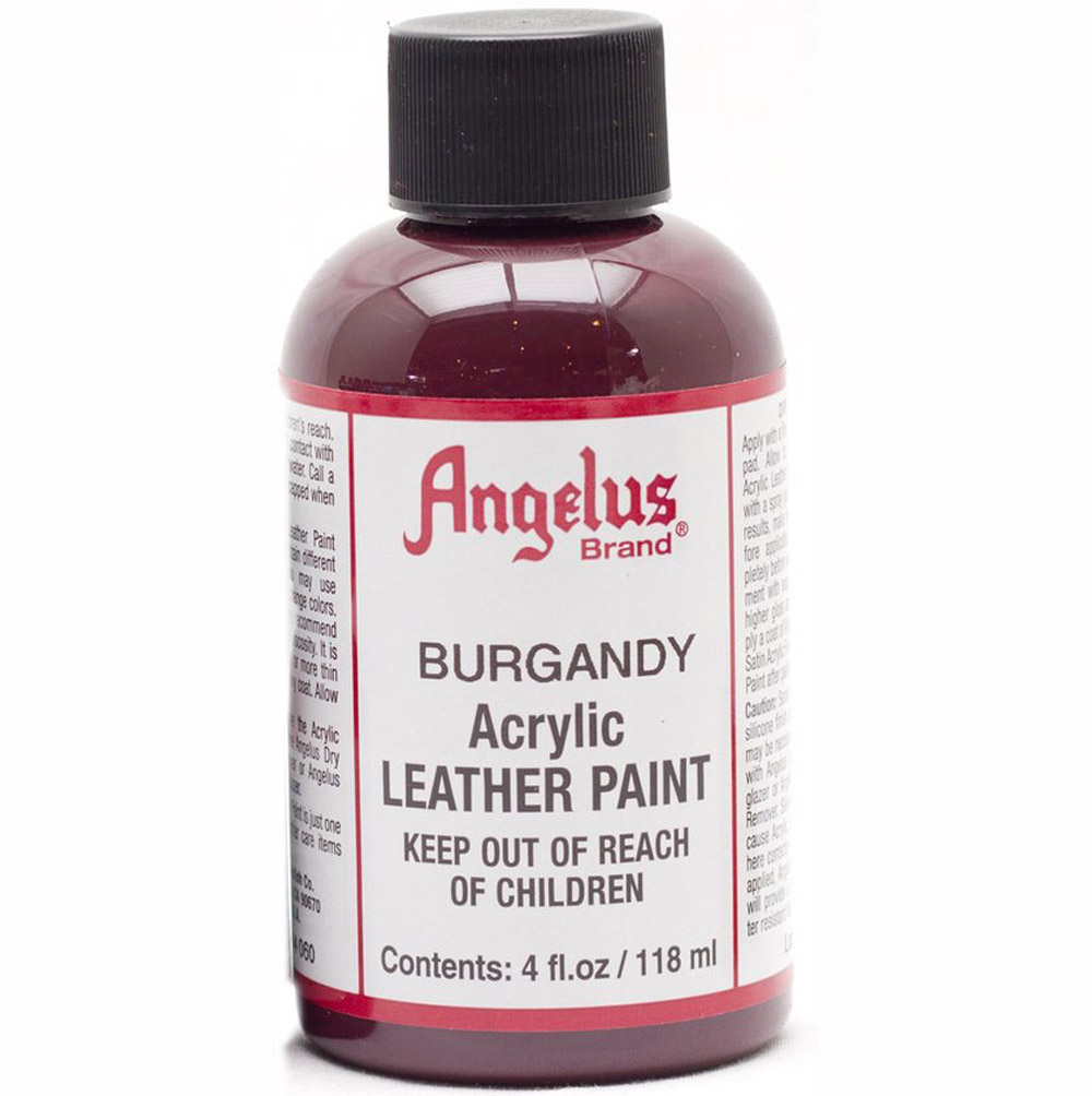 Angelus Leather Paint 4 Oz Burgundy