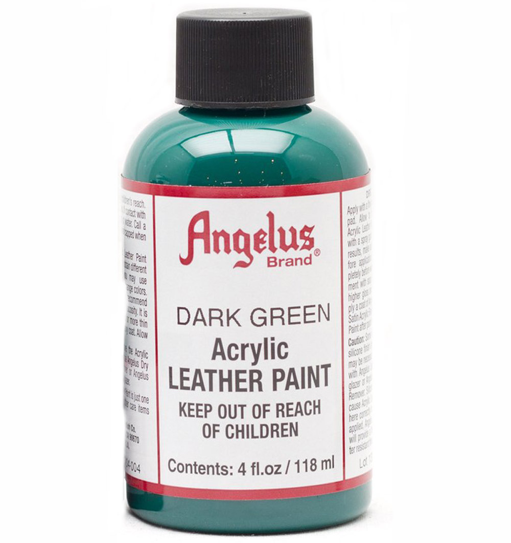 Angelus Leather Paint 4 Oz Dark Green