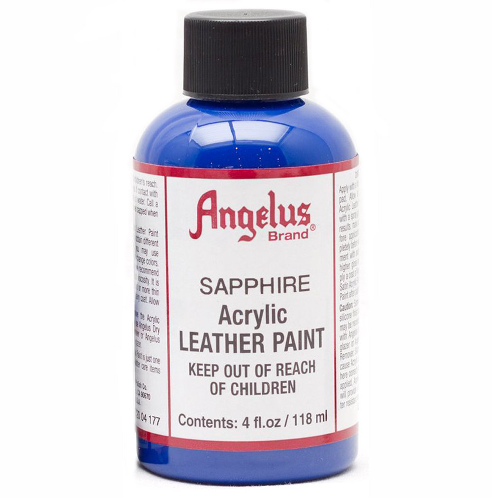 Angelus Leather Paint 4 Oz Sapphire